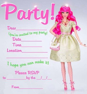 Zona De Manualidades Invitaciones De Barbie